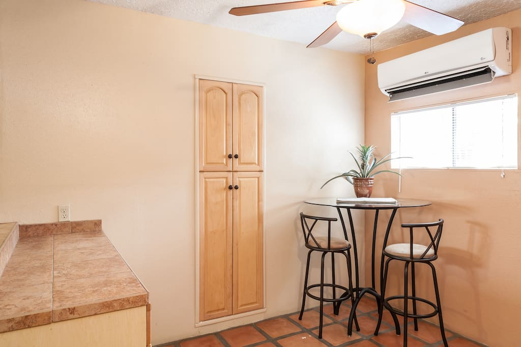 Pantry with microwave & Dishes