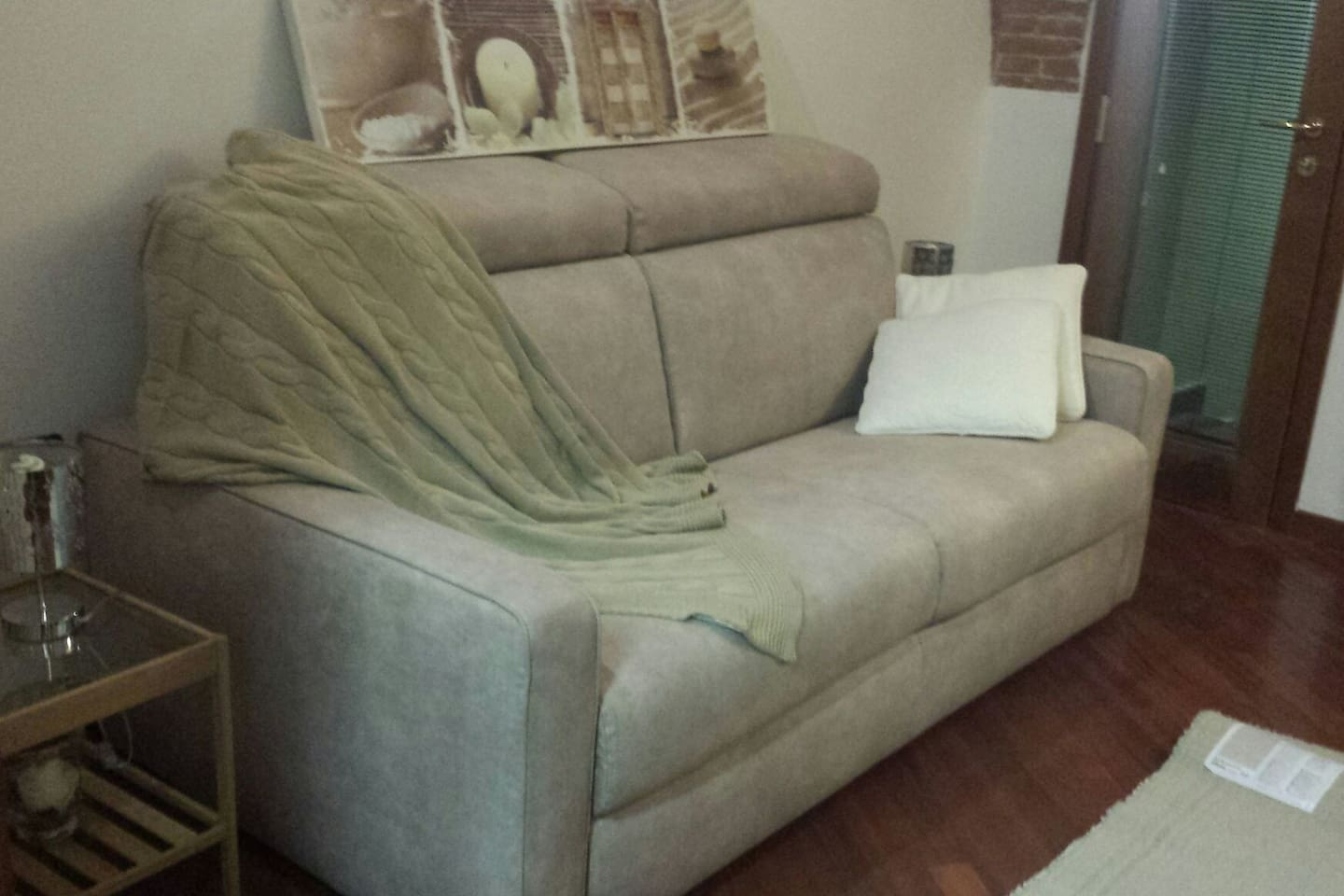 New restyling of room with new sofa bed