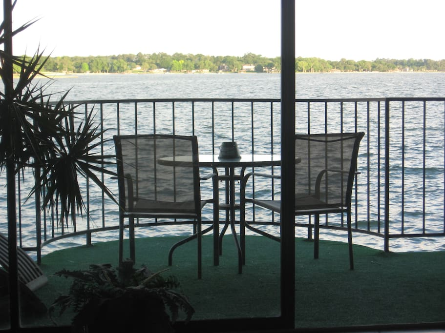 Your Private Balcony actually hangs over the water!