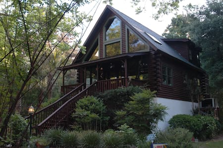 Edisto Island Tree House Log Cabin - Rumah