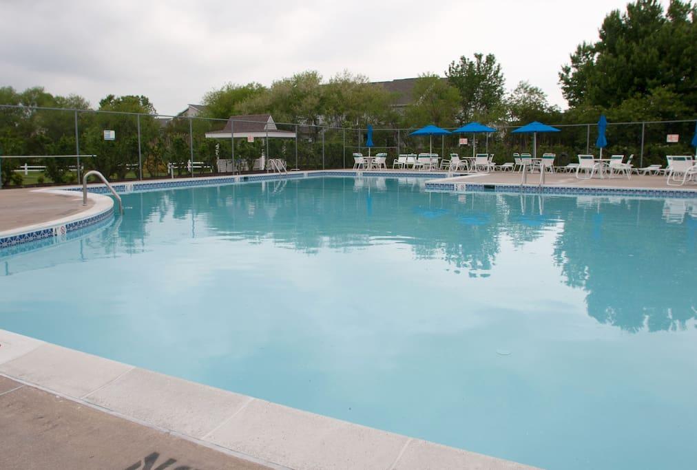 The pool is right next door!