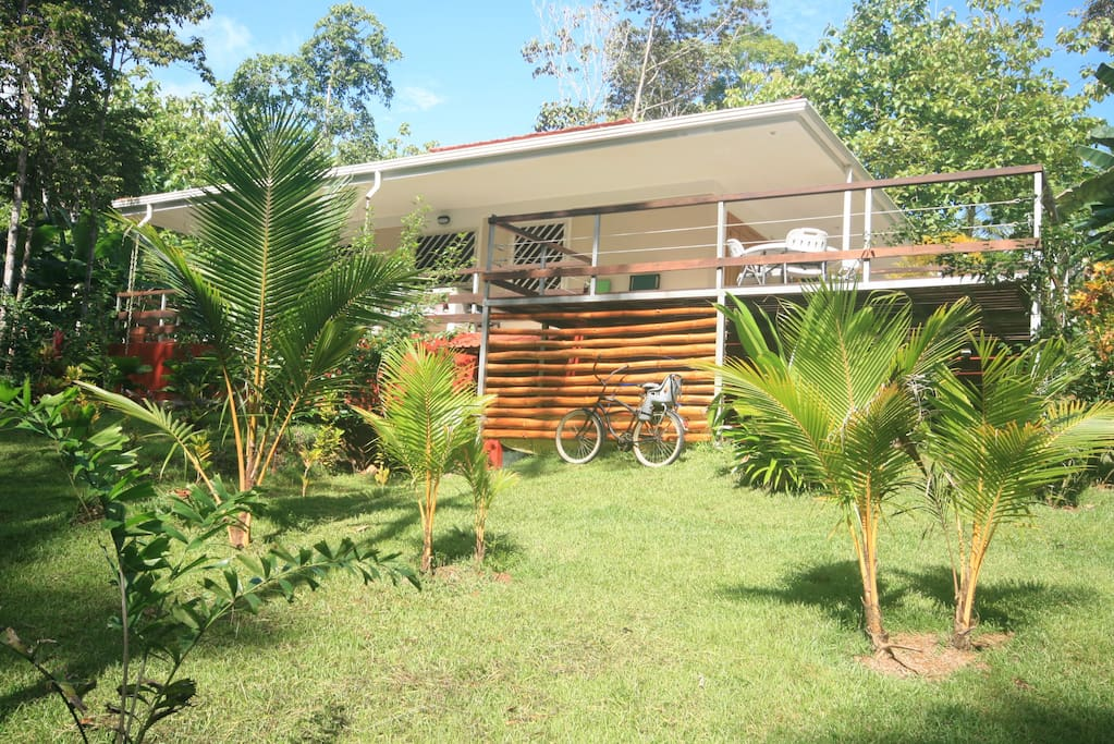 Discover the jungle from the wood open deck.