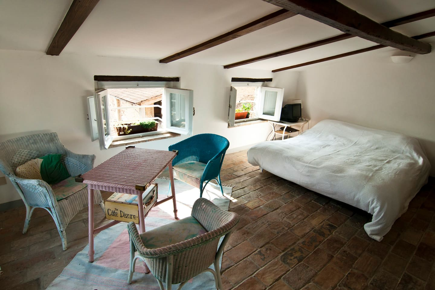 open plan bedroom in loft
