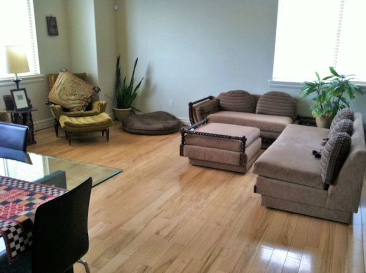 Large, spacious living area with comfortable furniture