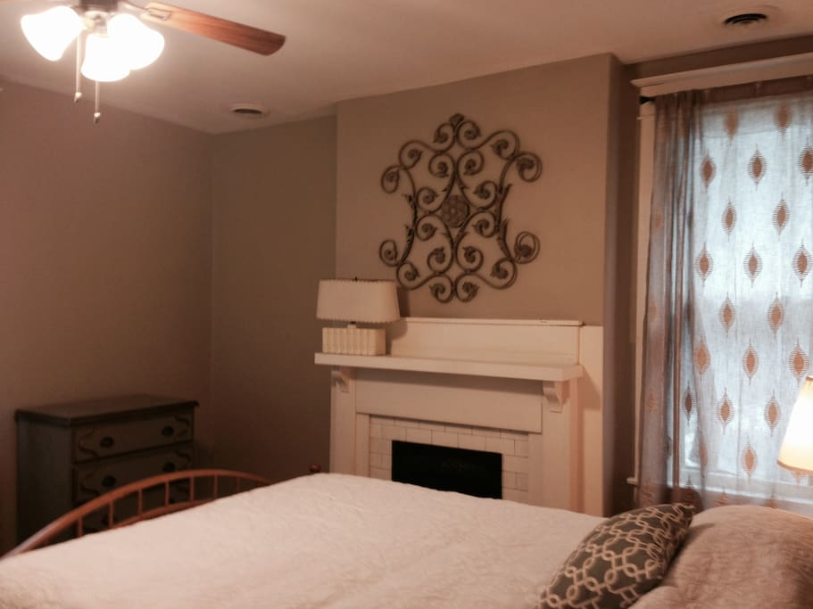 Front bedroom is both beautiful and comfortable with a queen sized bed with brand new mattress