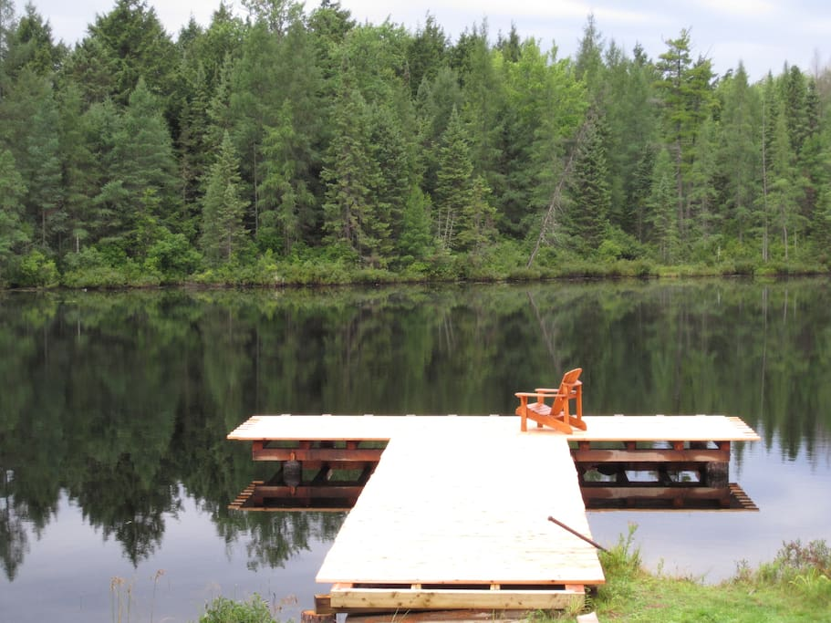 Our new dock is great for relaxing or jumping off ;)