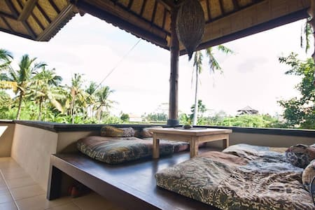 View on rice paddies Bali house ;)