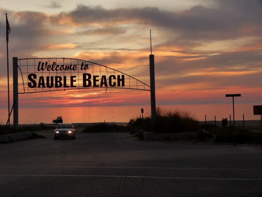 Sauble Beach known for it's world famous sunsets