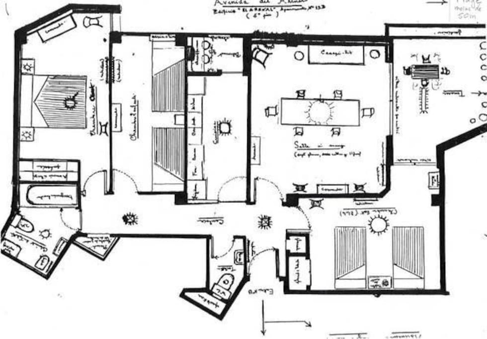 The map to have a global view of the apartment !