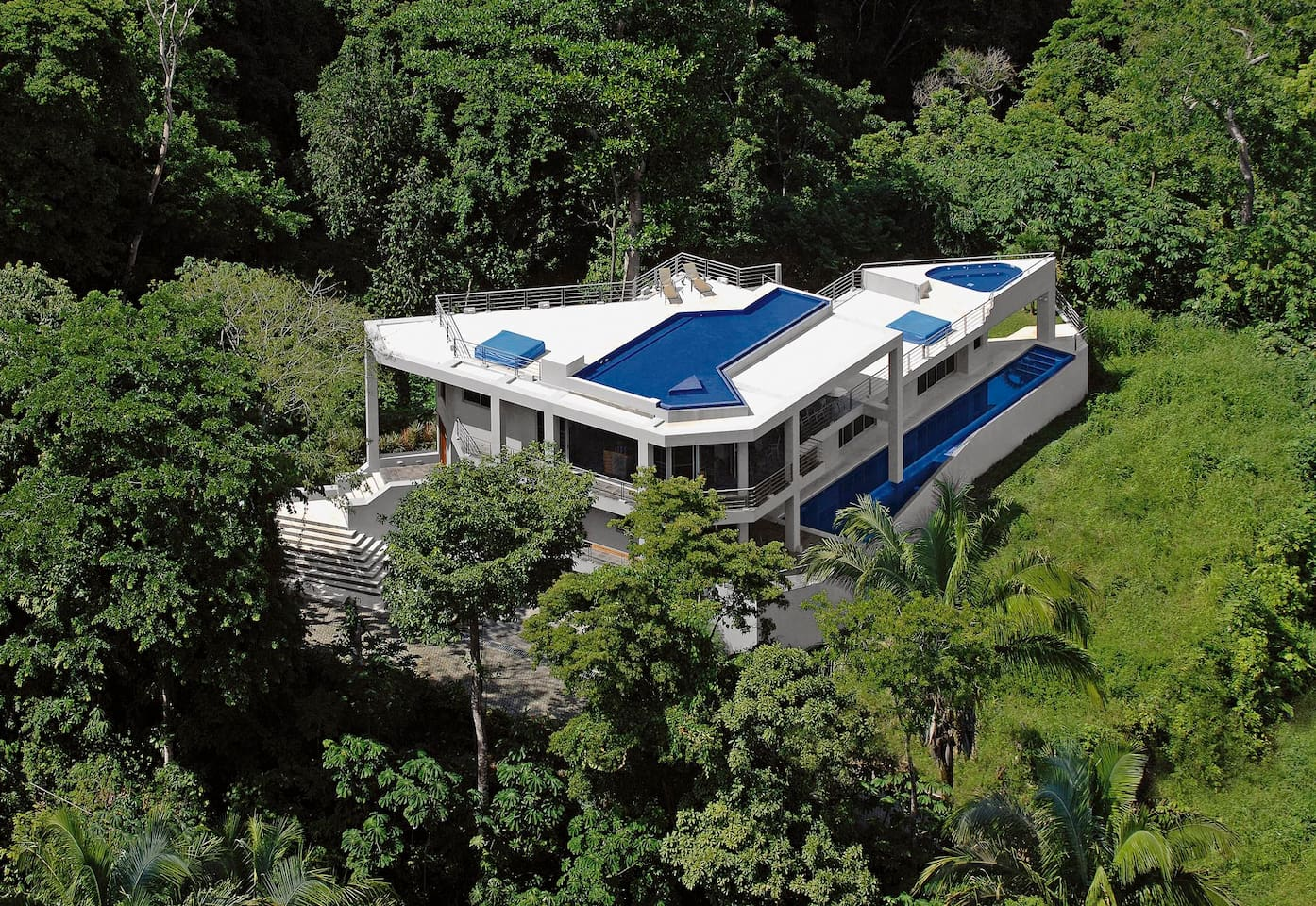 Aerial view of Casa de Pura Vida