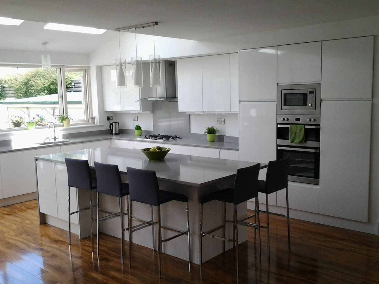 Modern kitchen with all appliances and facilities