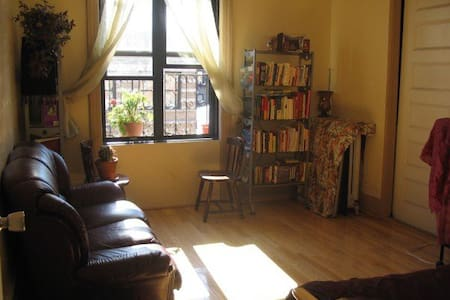 We love our spacious, sunny 3-bedroom apt and enjoy offering 2 rooms to friendly travelers. Sip your morning coffee in Central Park or feast on the many ethnic cuisines a short walk away. We recommend exploring Harlem's historic 125th Street nearby.