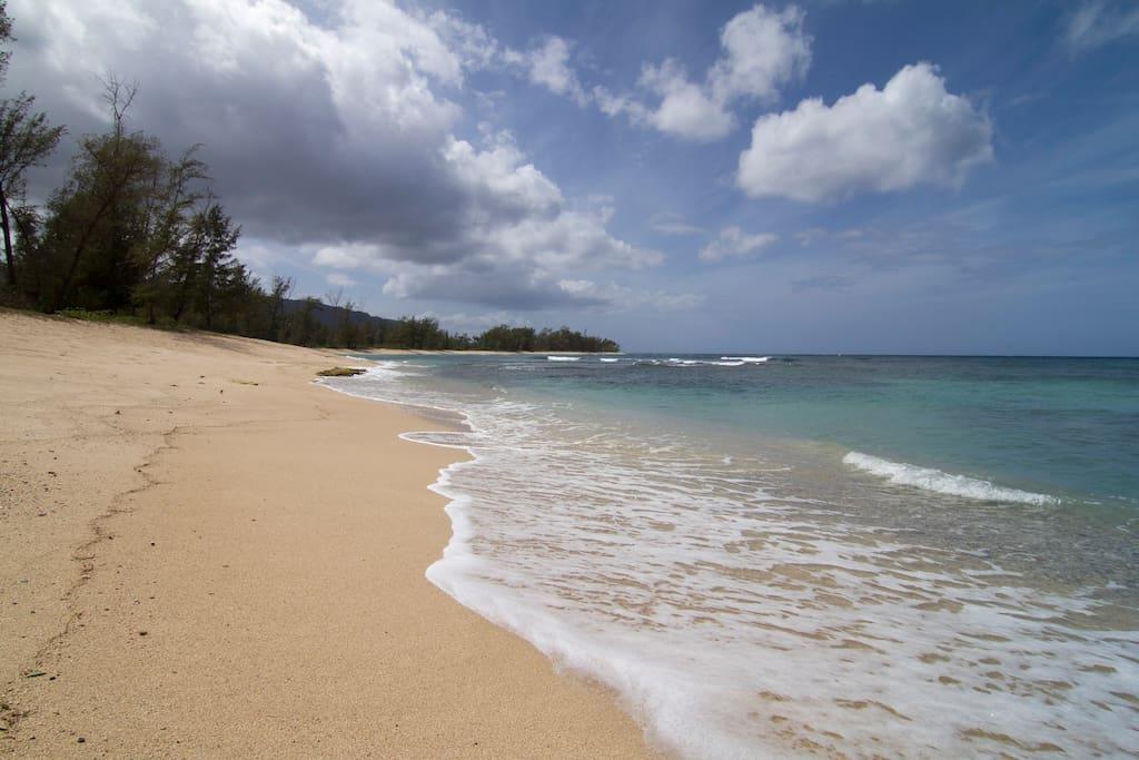 Mountian Water Well fed 33 x 17 ocean view pool. Mokuleia Hawaii.