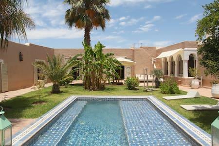 Adobe Pastoral Villa with 2 Pools - Marrakesh