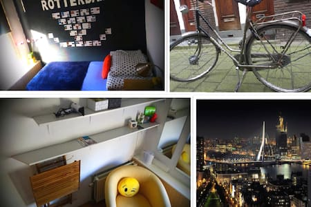 2 Single rooms+2 bikes, 15min from Central Station - Dormitorio
