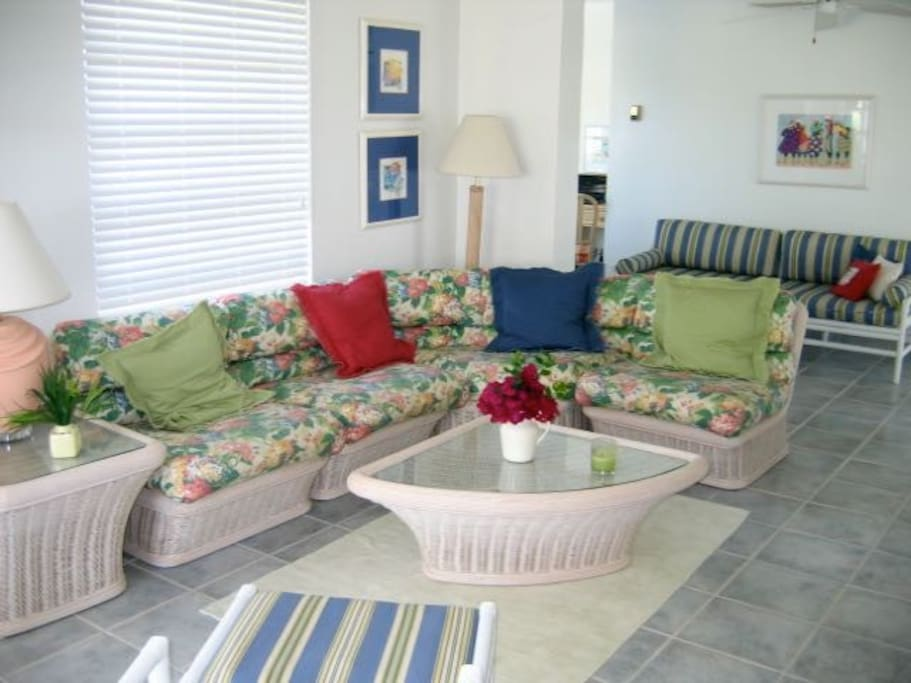 Comfortable and casual this professionally designed interior provides all the comforts of home.
