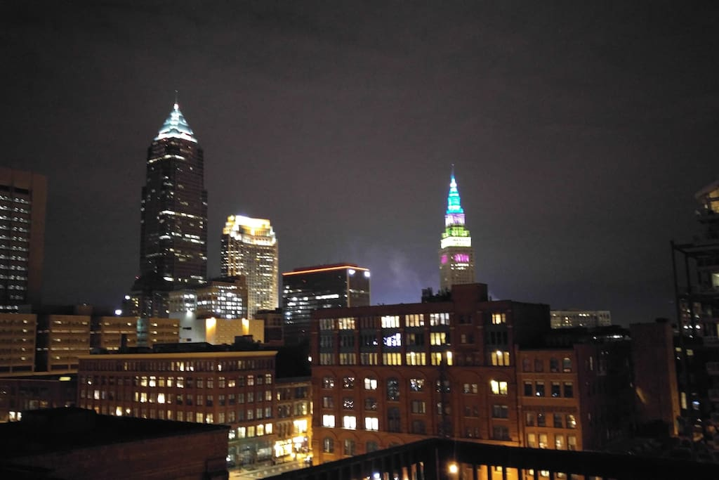 One of the many views of the 230sf roof top deck.