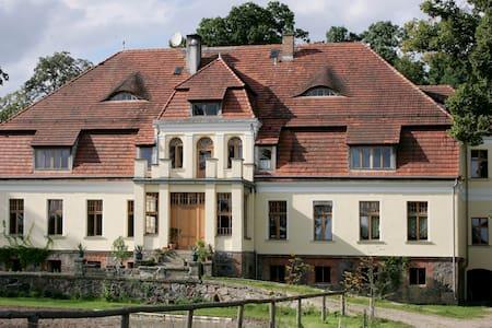 XIXc Hunting Manor House and horses - Bialogard