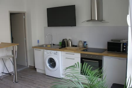 Studio flat parking Reims center 2 people - Appartement