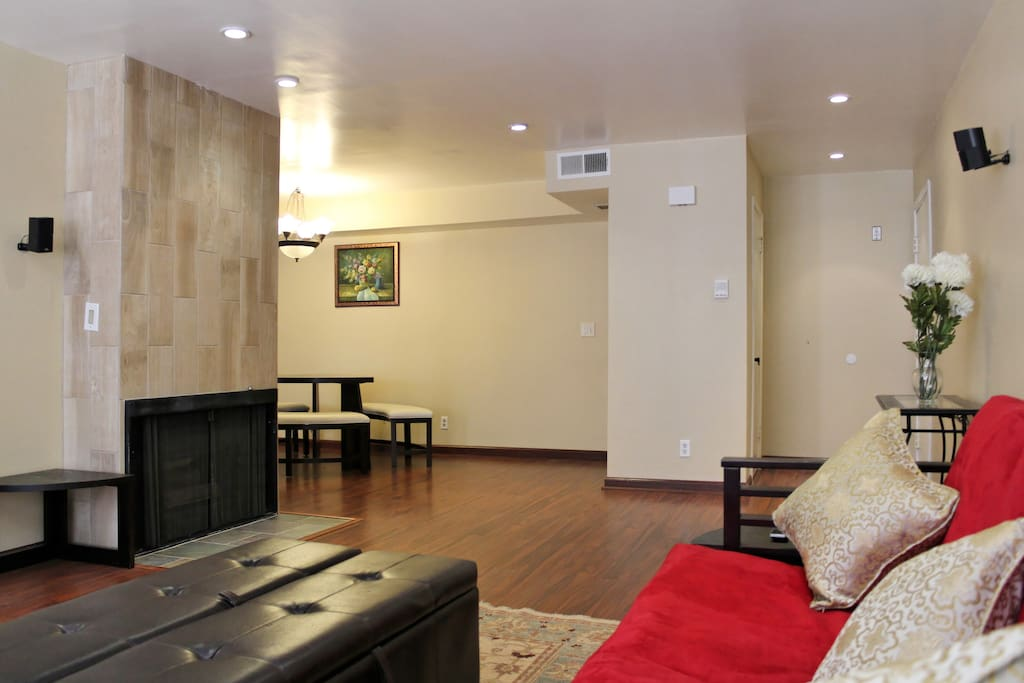 Living area with part of dining area