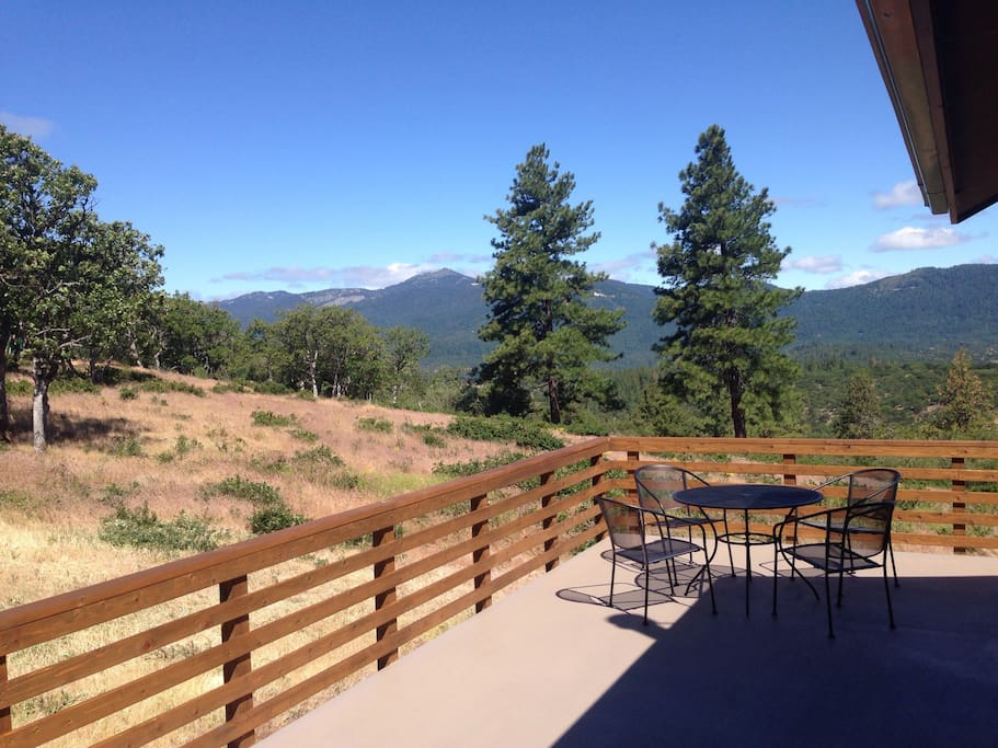 View of Mt Ashland from the deck