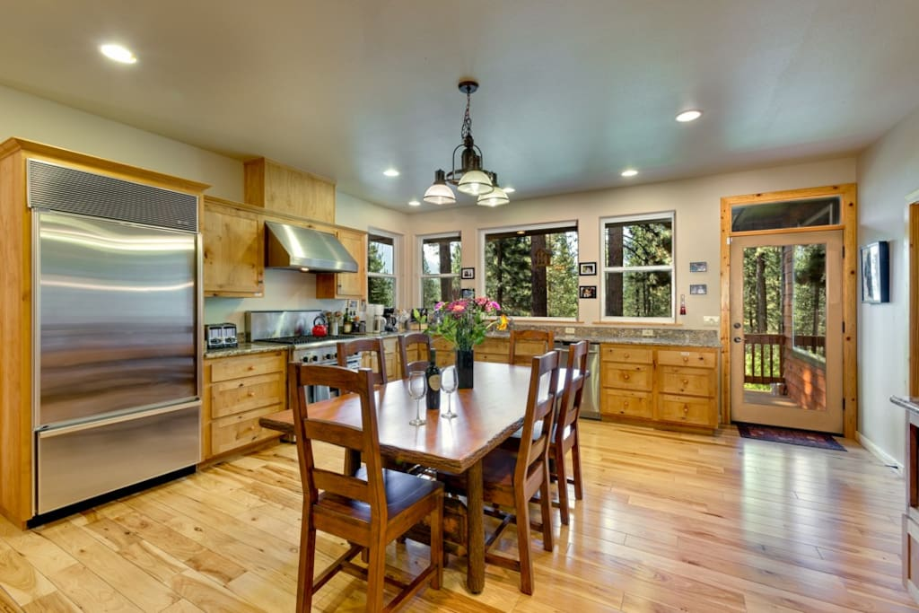 Kitchen, with access to outside decks and outside dining area