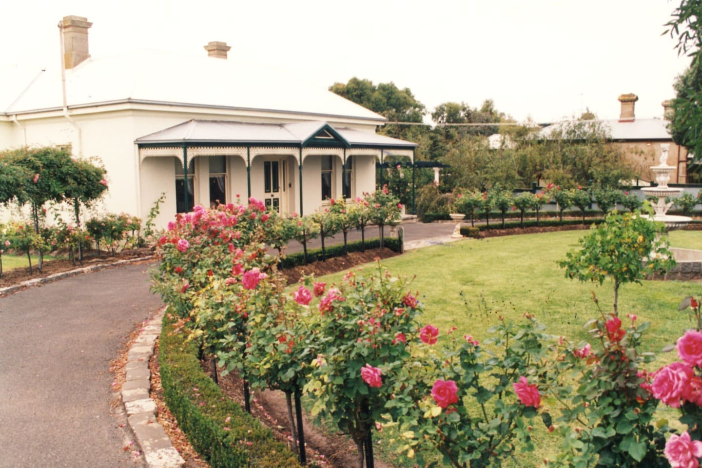 Front of main house and garden