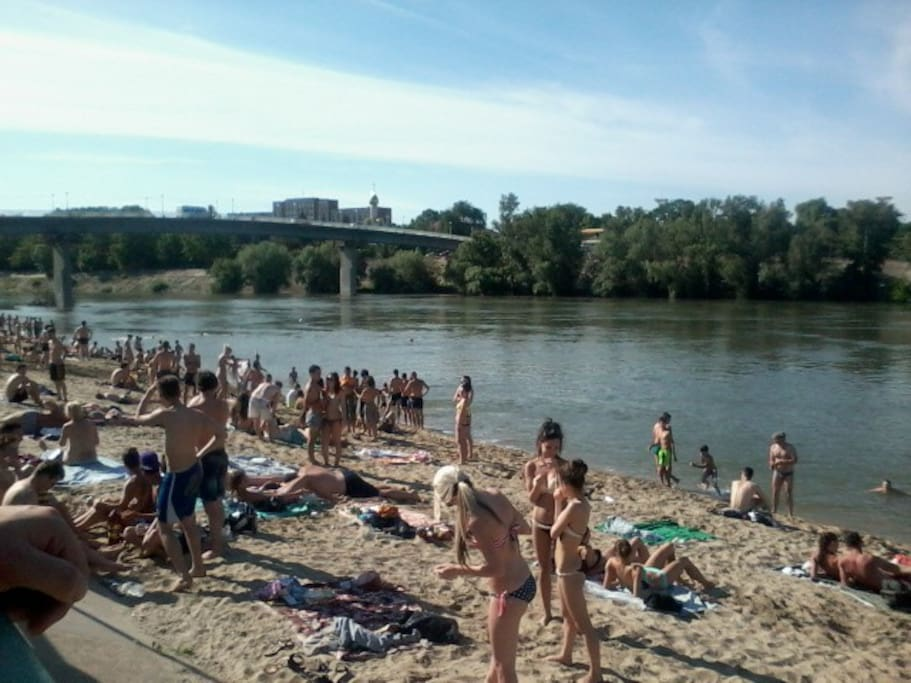 Tiraspol City Beach in the center! Only $1 for 2 Litters of Beer! We take you there! :)