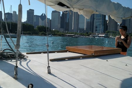 Sailboat Downtown - Chicago - Barca