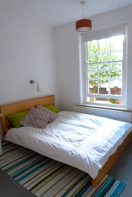 Comfy double-bed, memory foam mattress, feathery duvet and pillows. Great value guaranty!