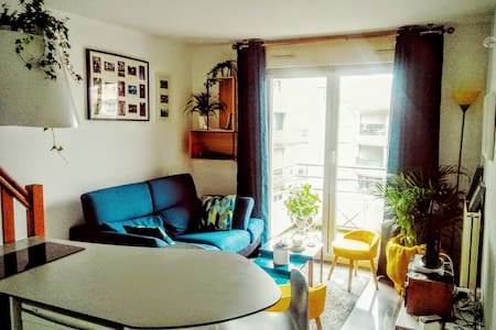 T1 bis en duplex cocooning, parking et balcon - Appartement