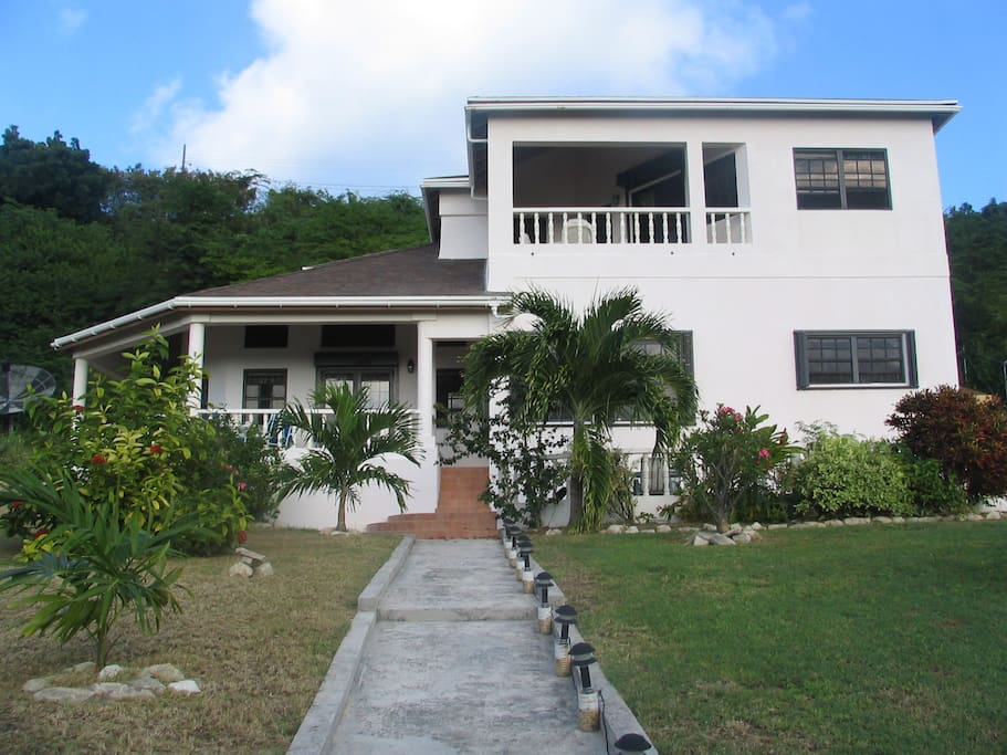 Front of the house showing trees