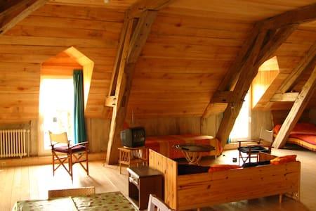 Nice wood loft in front of the lake - Loteng Studio