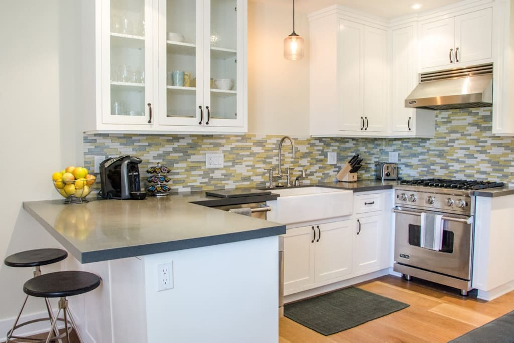 This state of the art kitchen has everything you need for a comfortable stay.