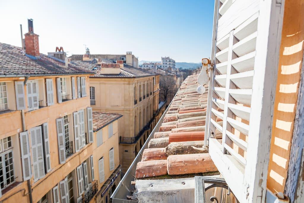 vue sur toits du Quartier Mazarin