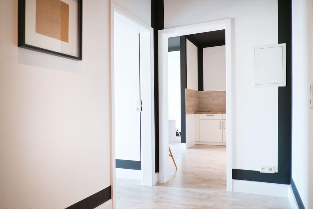 Schlafzimmer mit Boxspringbett 180 x 200 cm