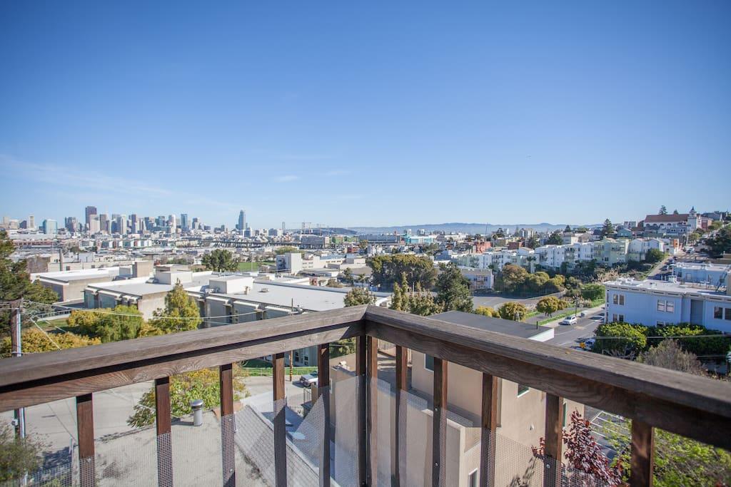 A bird's eye view of San Francisco.