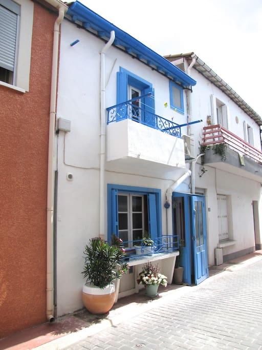Le quartier de la Pointe Courte au bord du canal de Sète