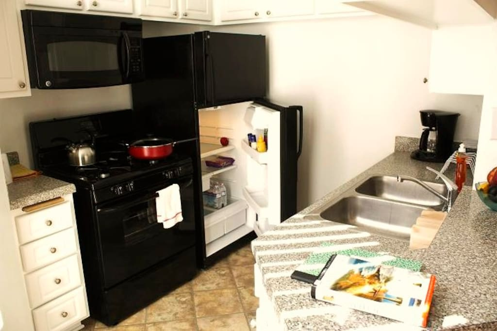 Full, Spacious, All-New Kitchen with LARGE appliances