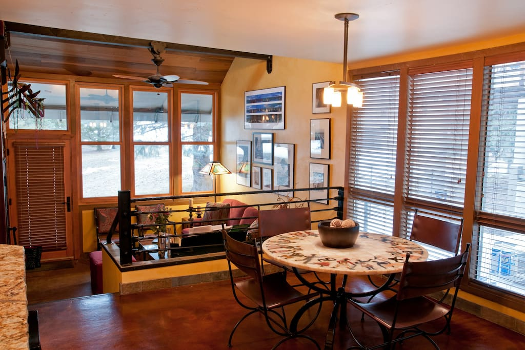 Dining room and living area beyond.  This is shared space, but you are welcome to make yourself at home here.