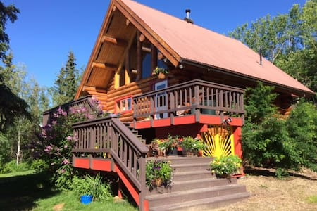 Beautiful Log Home, Interior Alaska