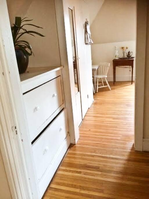 All hardwood flooring.