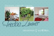 Friedas Zimmer, ankommen und wohlfühlen...
