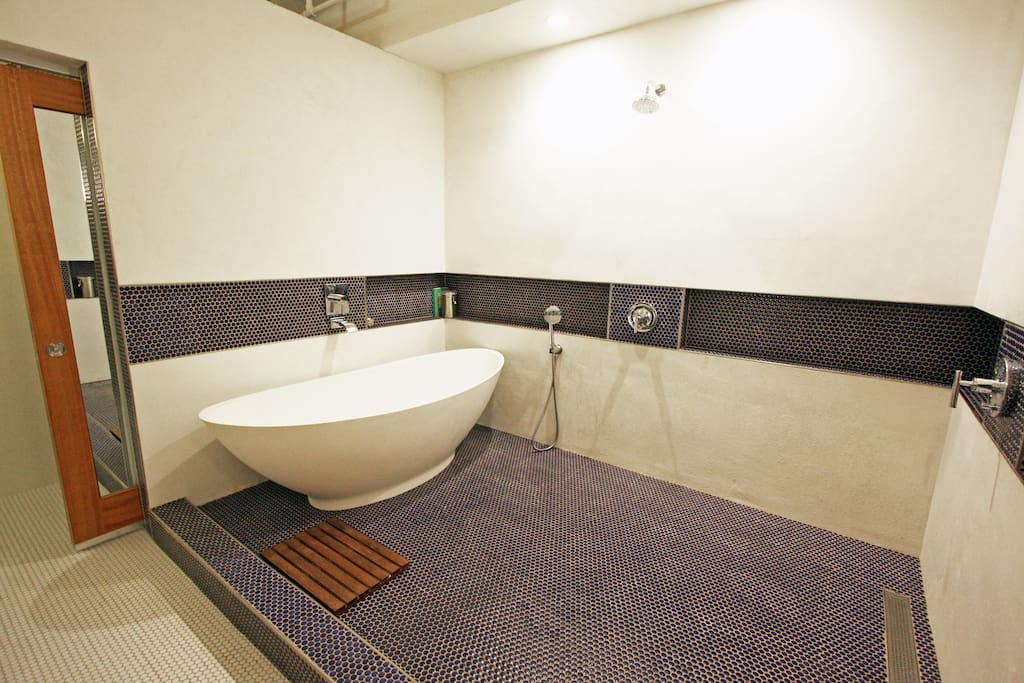 Expansive spa bathroom