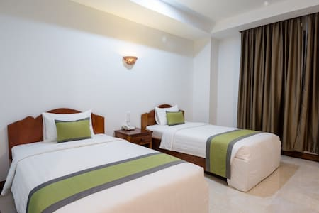 Bright & modern twin room in Chamkar Mon - Pis