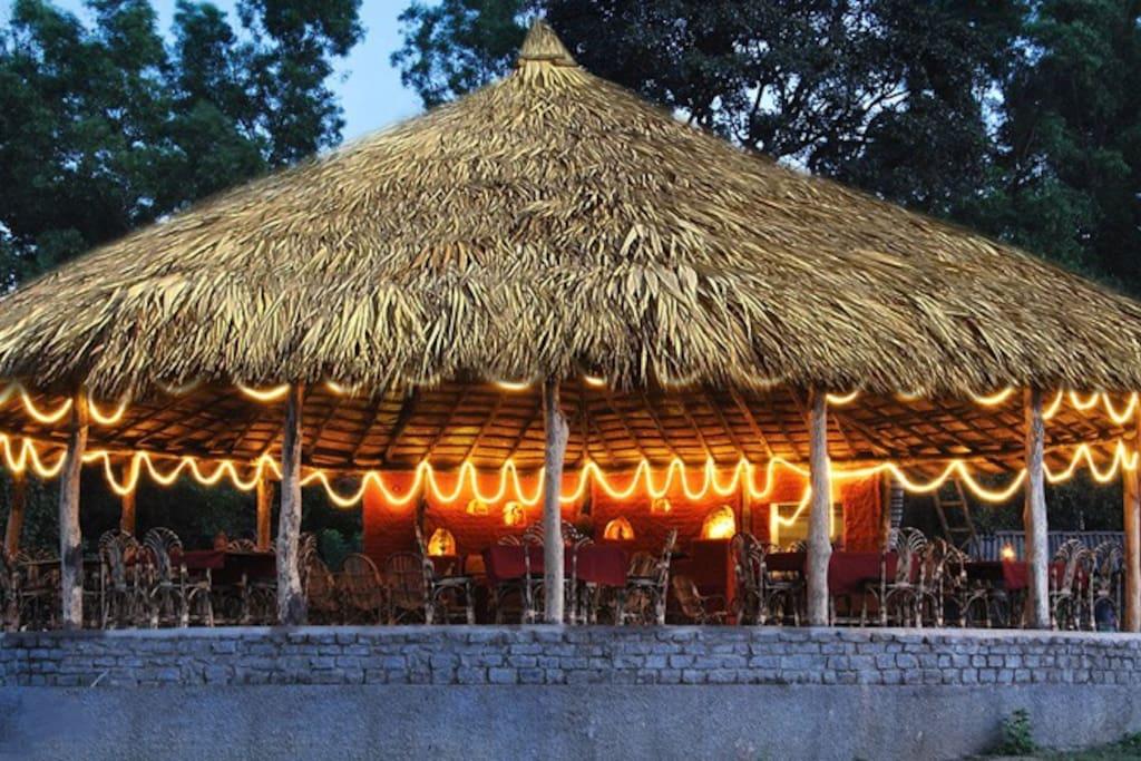 Parabolic Restaurant which serves local delicacies.