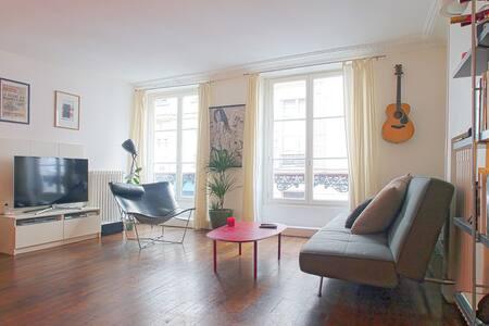 Marais / Arty family 2 bedroom apt
