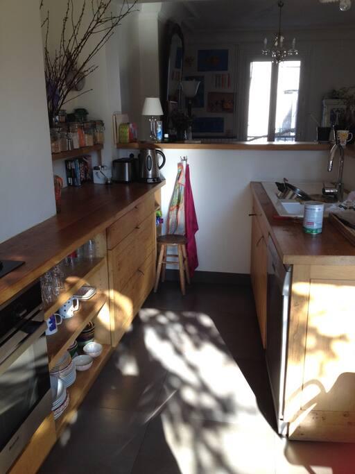La cuisine, au 1er étage