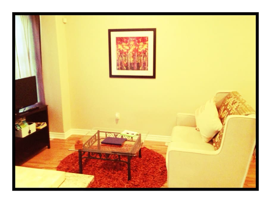 Living Room Area.  Smart TV with Netflix account set up for you to enjoy!