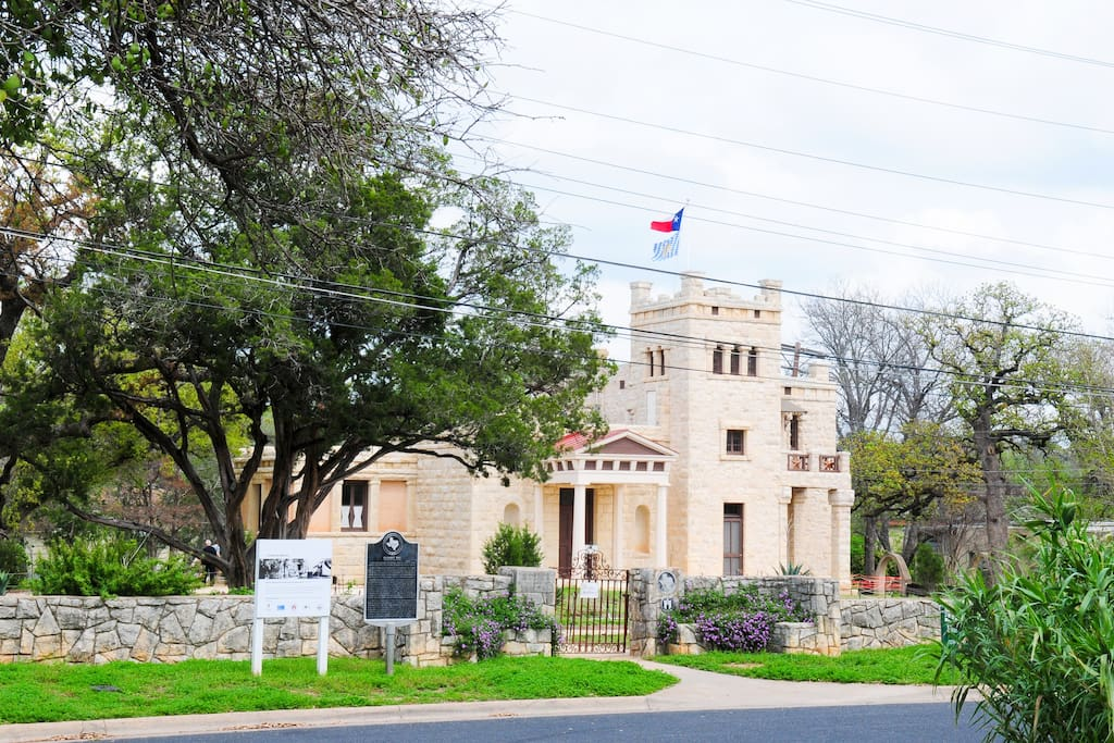 Your view of the Elizabet Ney Sculpture Museum, directly across the street from the Casita.